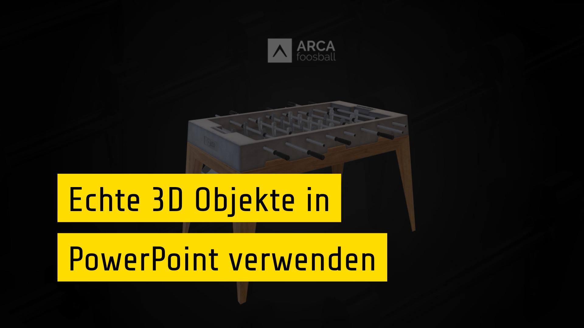 3D Objekte In PowerPoint